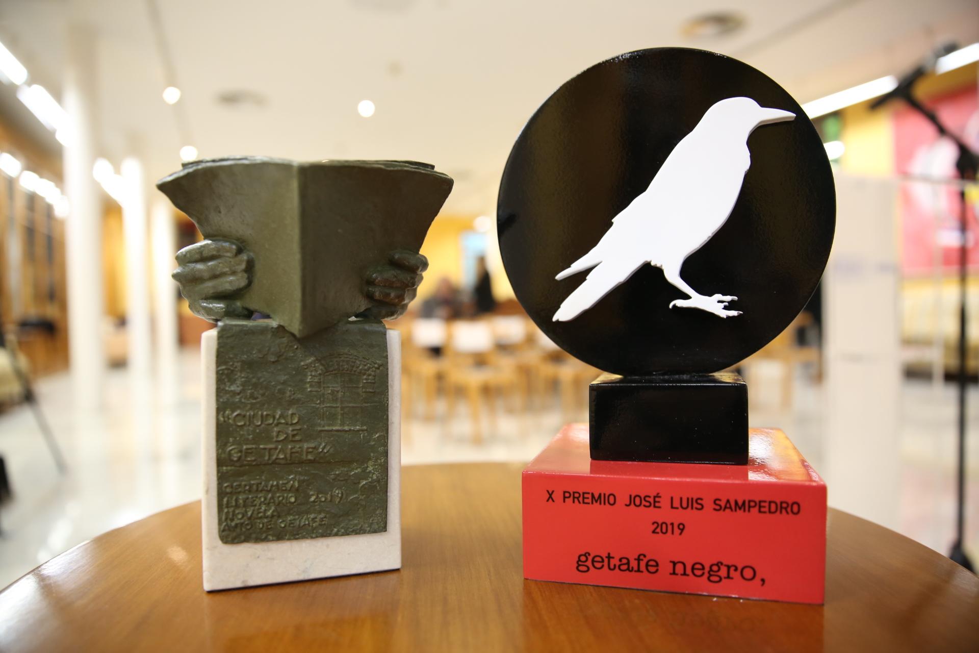 Entregados el premio de 'Novela Negra ciudad de Getafe' y el premio 'José Luis Sampedro'