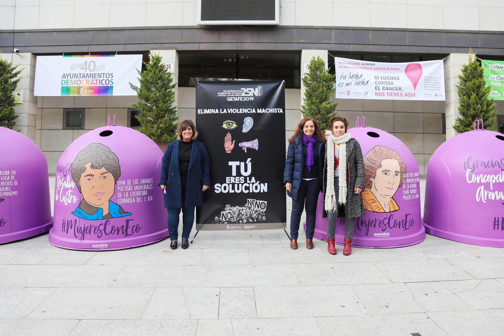 Comienza la campaña 'Elimina la violencia machista. Tú eres la solución' que presenta el Ayuntamiento de Getafe con motivo del 25n.