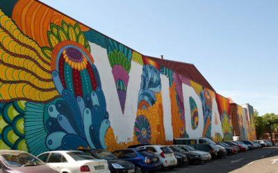 Se renovará el mural de 'vida' tras las obras de impermeabilización de las viviendas.